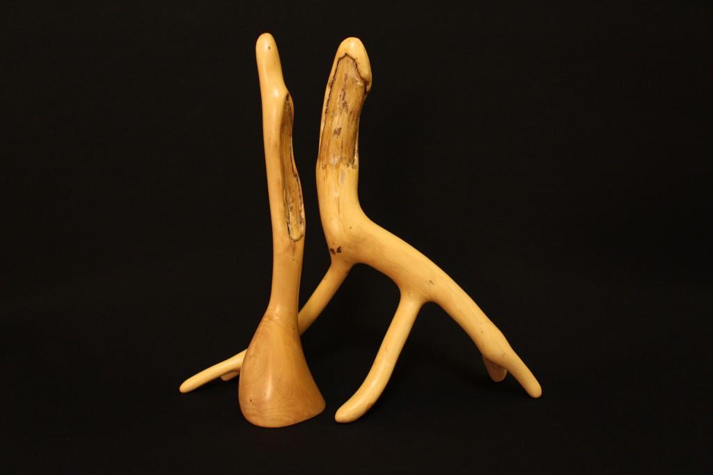 """""""Eichenpaar""""   1995, Holz, stehend, 34 cm hoch"""