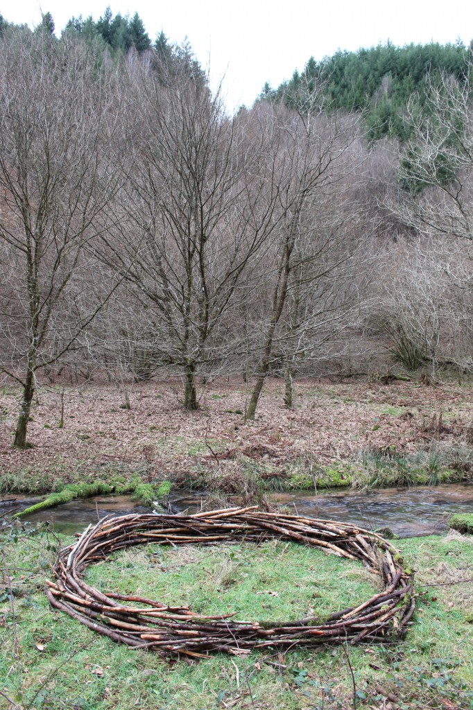 "Januar 2015,  ""Kreis"" Fundholz im Pfälzer Wald bei  Hinterweidentahl"