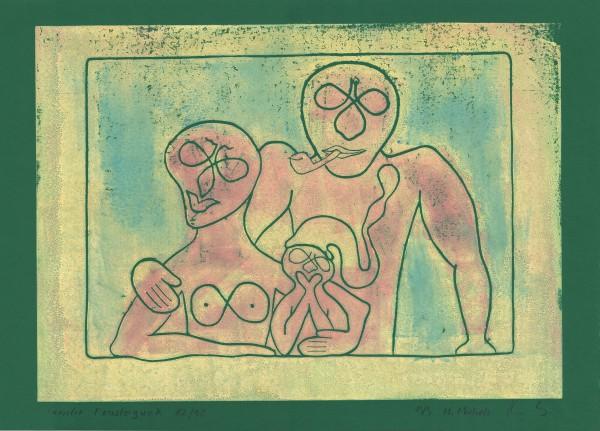"""Familie Fensterguck"",   1982/1998,   42 x 30,   19/9"