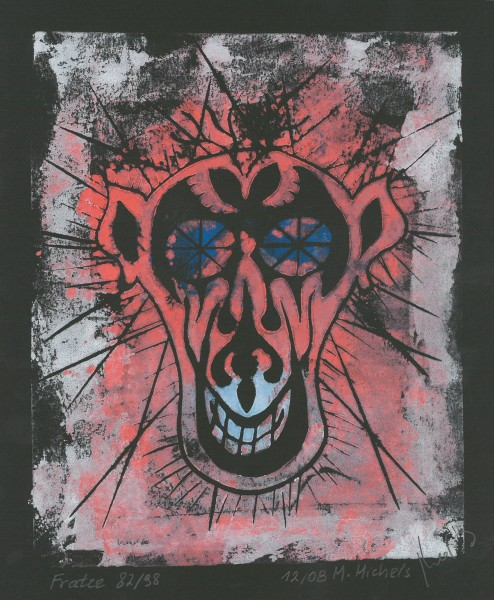 """Fratze"",   1982/1998,   26 x 20,   12/8"