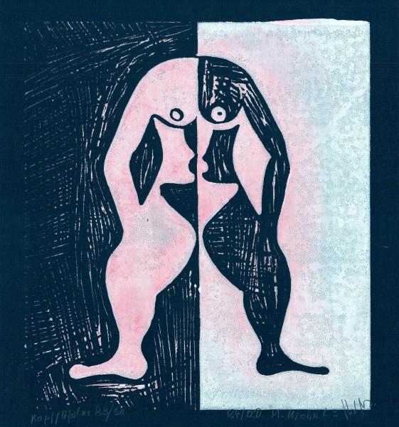 Linolschnitt- und druck, Manfred Michels Nr.2