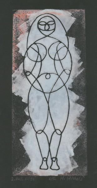 Linolschnitt- und druck, Manfred Michels Nr.6