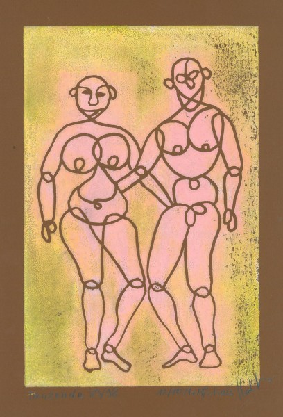 """Tanzende"",   1983/1998,   30 x 20,   12/10"