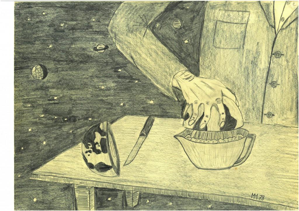"""""""Rohstoffgewinnung""""   1978   40 x 30,   Bleistift"""
