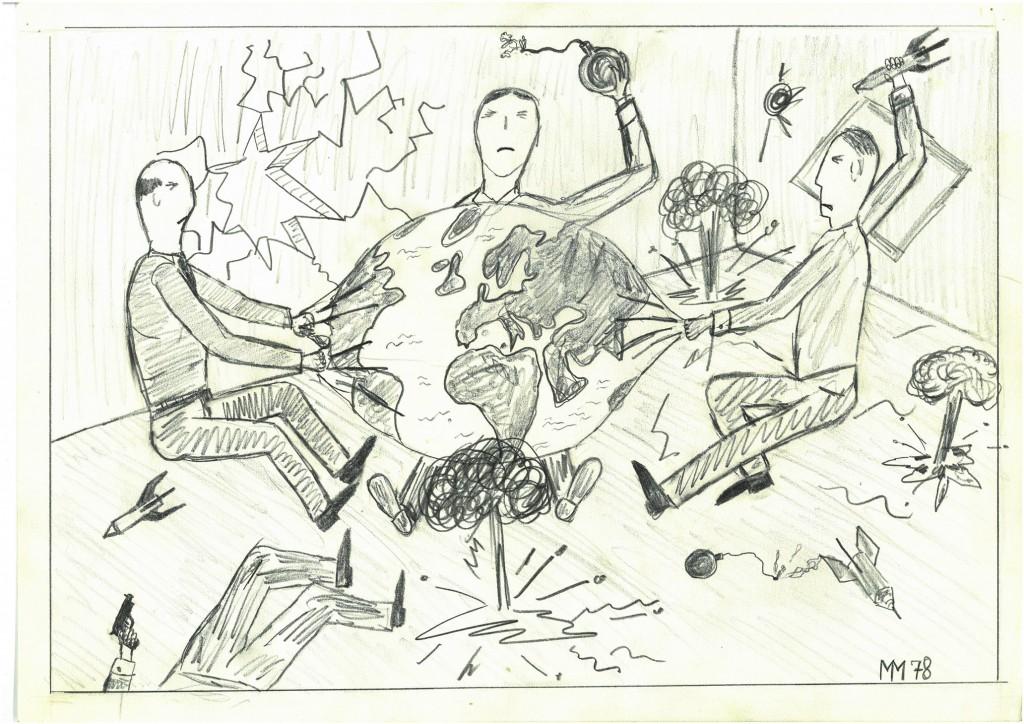"""Zankapfel""    1978    38 x 28,   Bleistift"