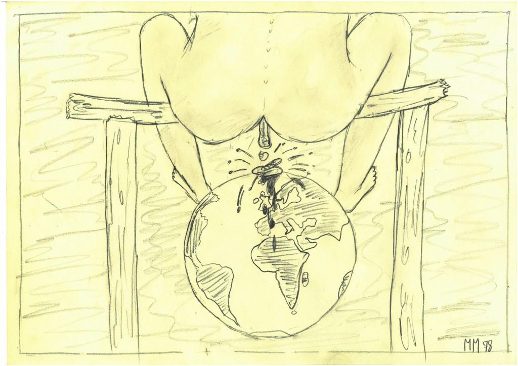 """""""Donnerbalken""""   1978   38 x 28,   Bleistift"""