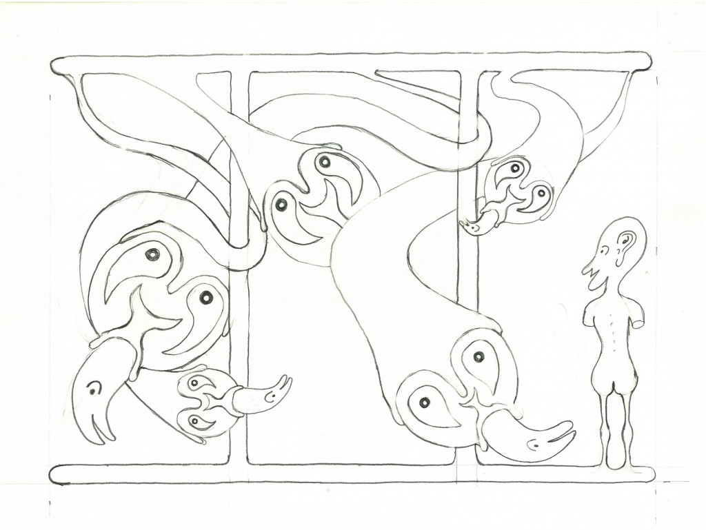 """""""ohne Titel""""   1982,   34 x 24, Bleistift"""